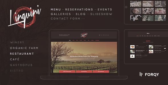 Linguini: Restaurant WordPress Theme - Restaurants & Cafes Entertainment