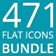 471 Flat Icons - Bundle - GraphicRiver Item for Sale