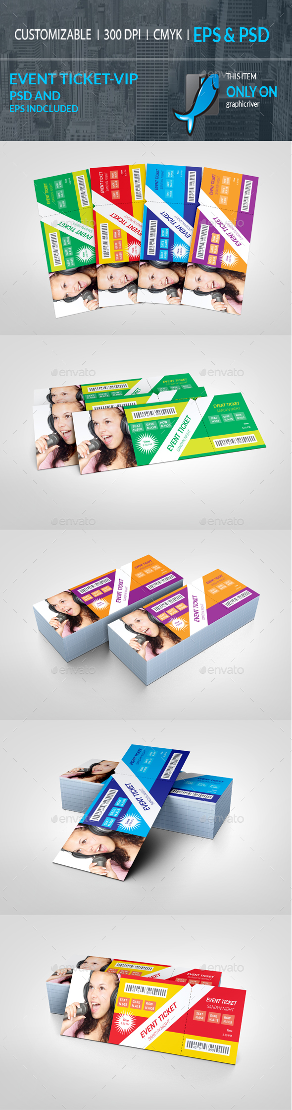 GraphicRiver Event Ticket VIP Pass 20227324