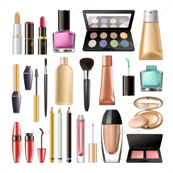 Decorative Cosmetics for Make Up - Man-made Objects Objects