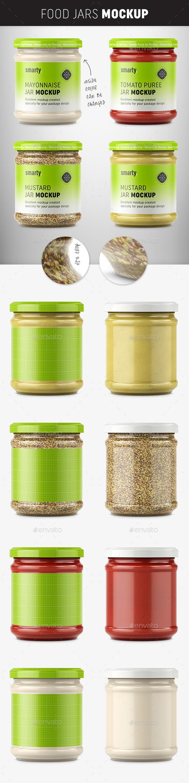 Food Jar Mockups