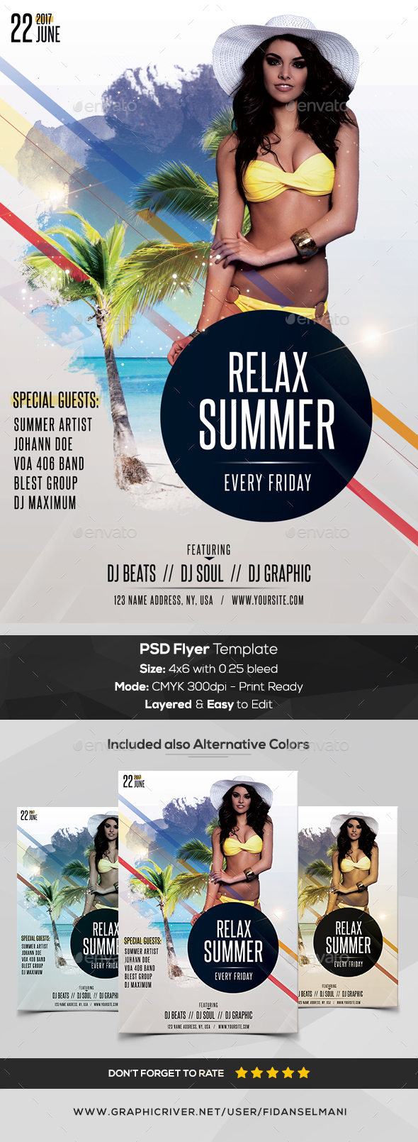 Relax Summer - PSD Flyer Template - Flyers Print Templates