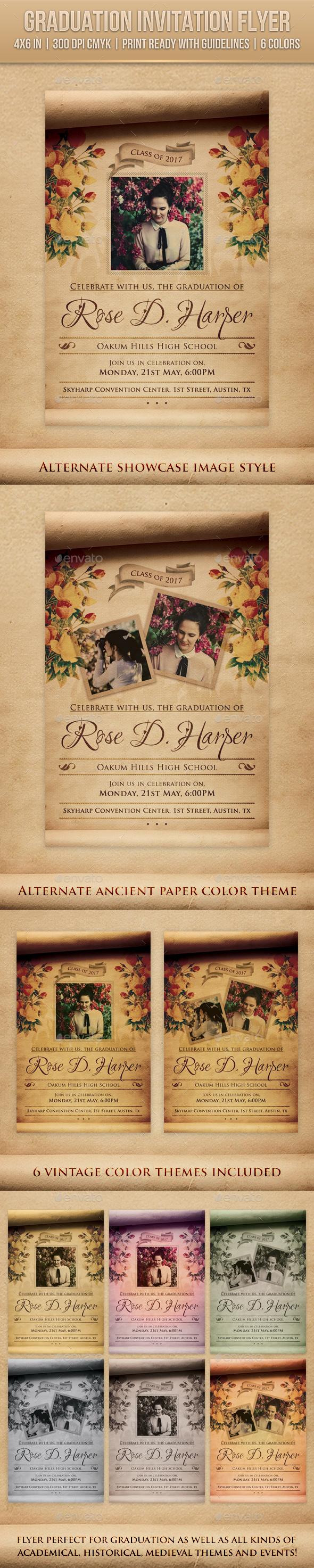 Graduation Invitation Flyer - Miscellaneous Events