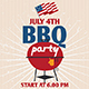 JULY 4TH BBQ PARTY Flyer Template - GraphicRiver Item for Sale