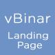 vBinar - Mobile App Landing Page