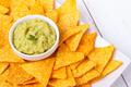 Avocado guacamole with nachos