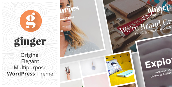 Ginger - Original Multipurpose WordPress Theme - Creative WordPress