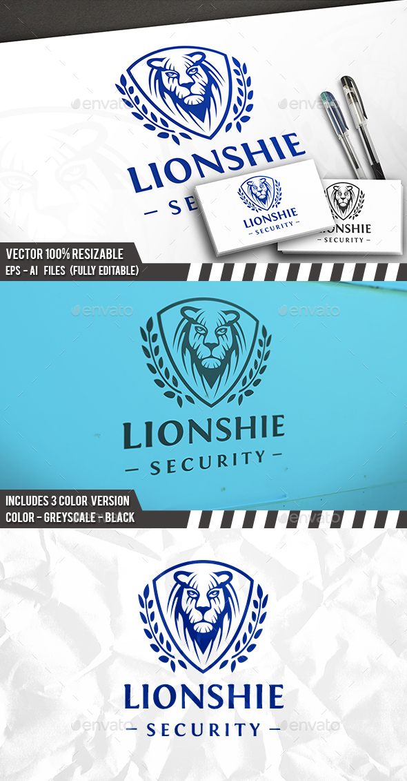 Lion Face Shield Logo - Sports Logo Templates