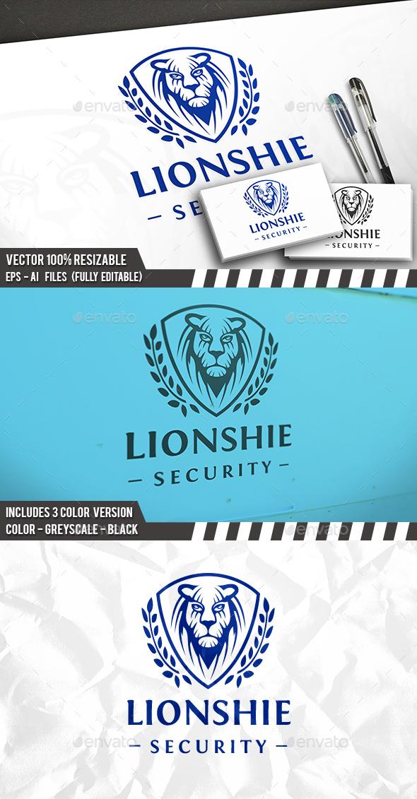 GraphicRiver Lion Face Shield Logo 20228849