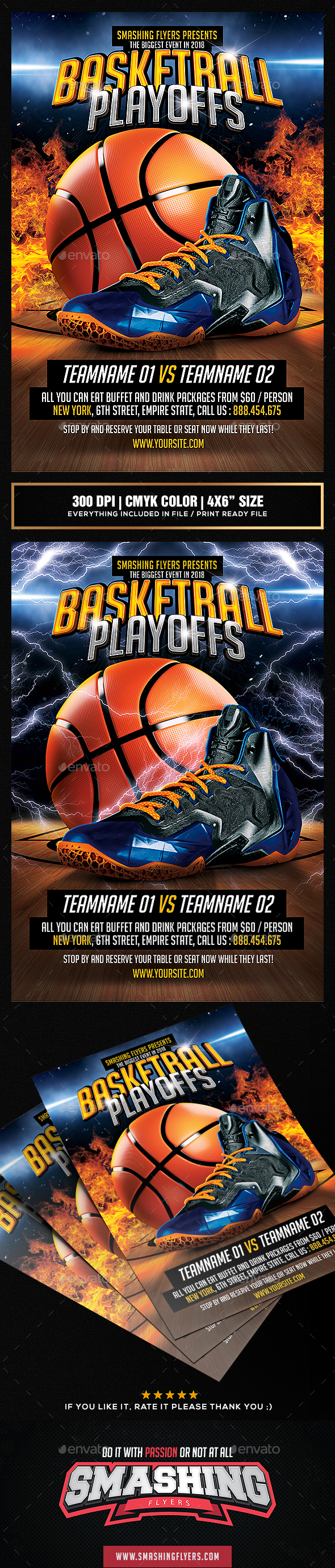 Basketball Playoffs Flyer template