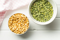 Green and yellow split peas. - PhotoDune Item for Sale