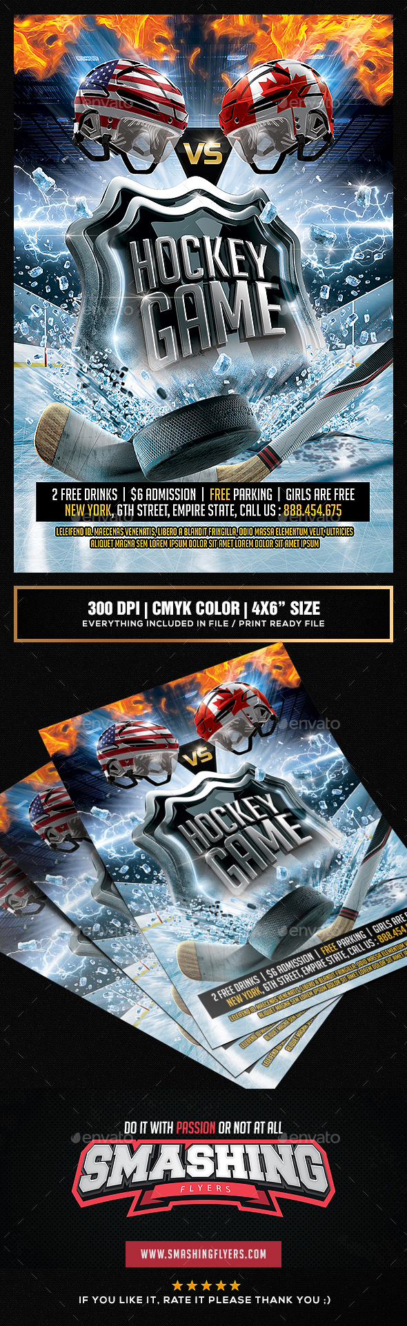 GraphicRiver Hockey Game Flyer template 20229582