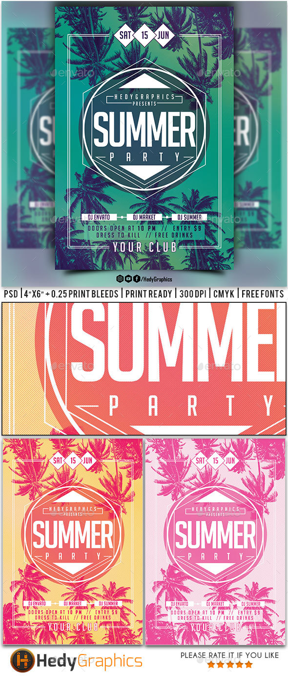 Summer Party - Flyer - Clubs & Parties Events