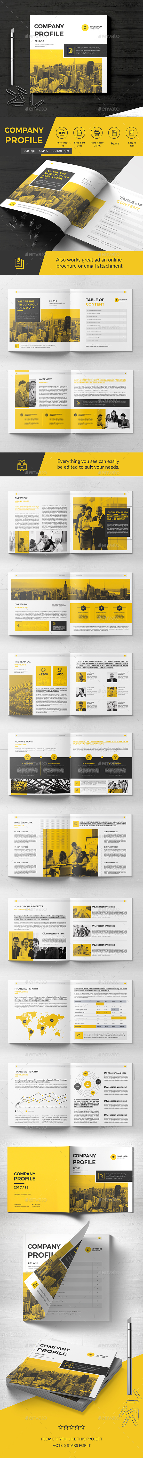 Square Company Brochure 22 Pages - Corporate Brochures