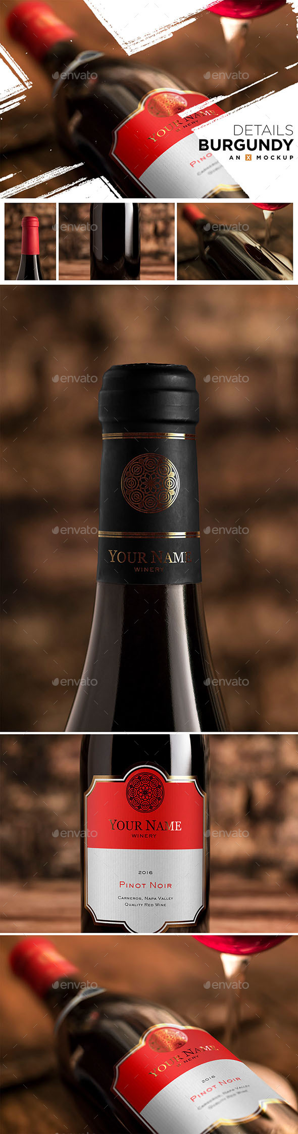GraphicRiver Details Wine Mockup Burgundy Red 20230084