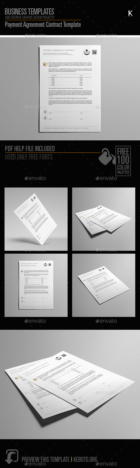 Payment Agreement Contract Template - Miscellaneous Print Templates