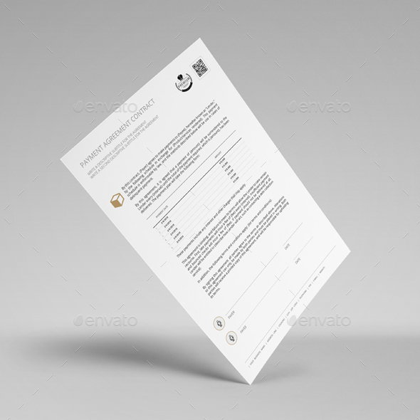 Payment Agreement Contract Template By Keboto | Graphicriver
