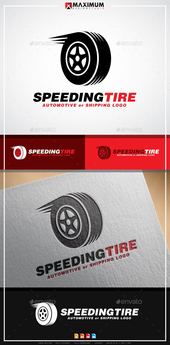 Speeding Tyre Logo Template - Objects Logo Templates