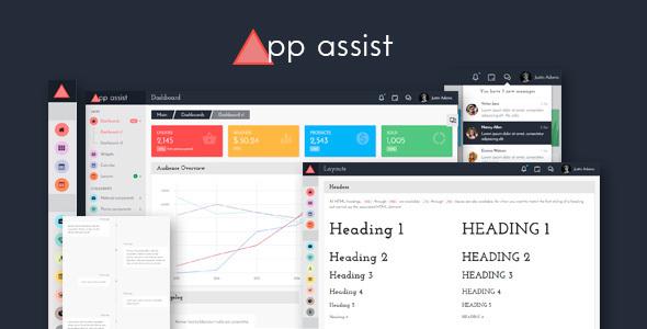 App assist - Angular 4 Bootstrap 4 Admin Template