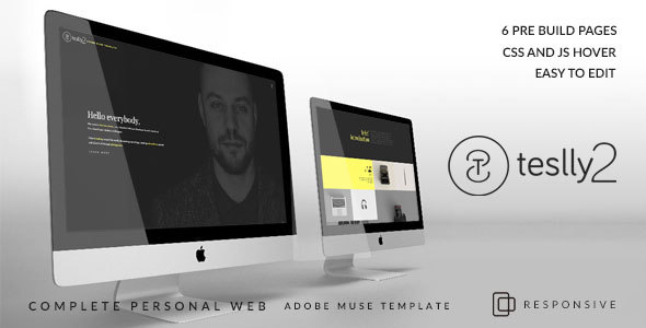 Teslly2 Personal Muse Template - Muse Templates