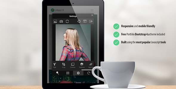 Lollipop 2.0 - Image Editor - CodeCanyon Item for Sale