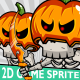 Halloween Skeleton Game 2D Character Sprite