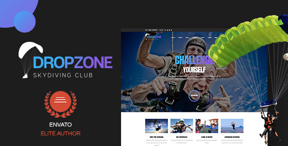 Dropzone - Skydiving Club Responsive WordPress Theme