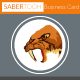 Sabertooth Business Card