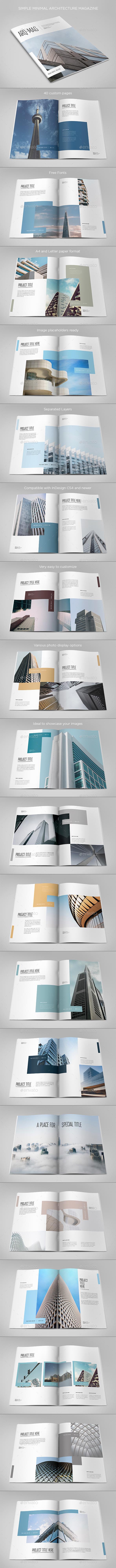Simple Minimal Architecture Magazine - Magazines Print Templates