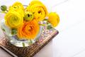bouquet of yellow ranunculus