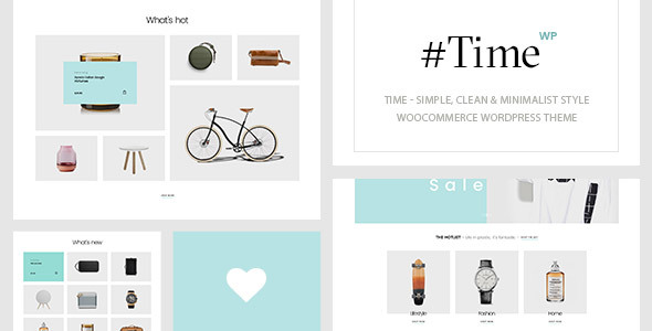 Time - Simple Minimalist WooCommerce WordPress Theme