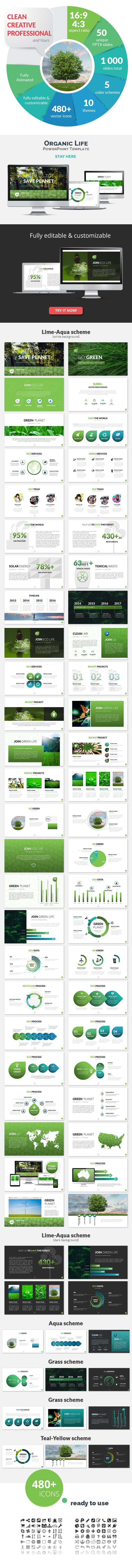 Organic Life PowerPoint Presentation Template - PowerPoint Templates Presentation Templates