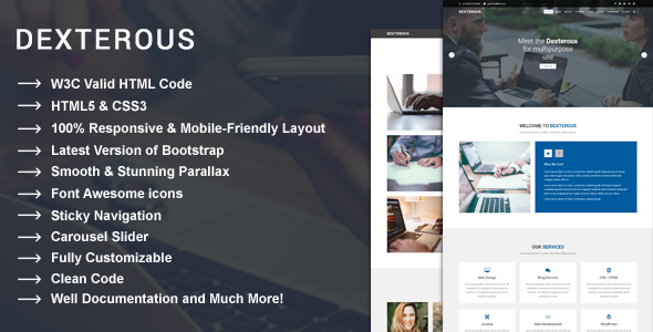 Dexterous - Multipurpose Corporate and Business HTML5 Template