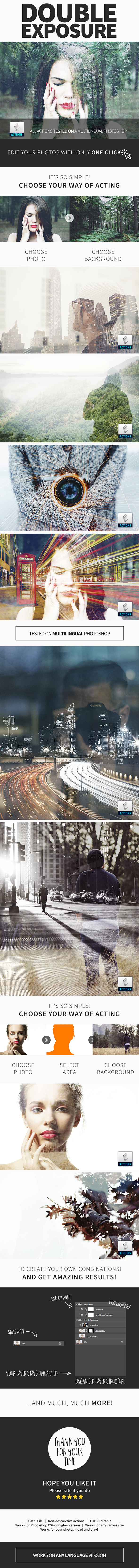 Double Exposure Actions - Photo Effects Actions