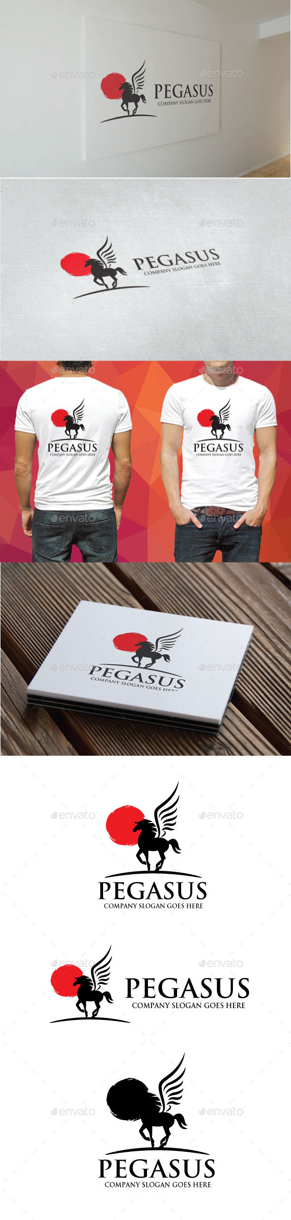 Pegasus Logo - Animals Logo Templates