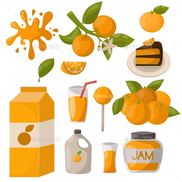 Ripe Orange Products Fruits Citrus Slices Sweet - Food Objects