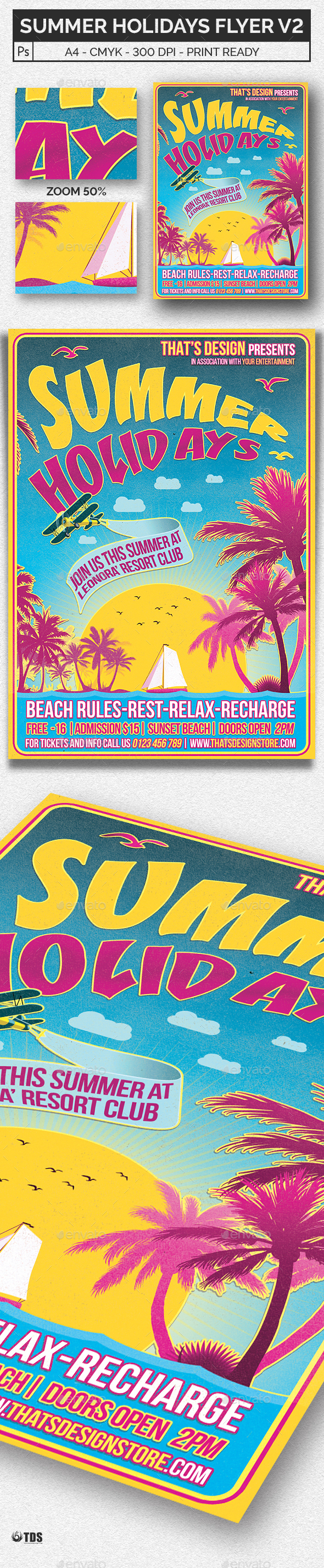 Summer Holidays Flyer Template V2 - Events Flyers
