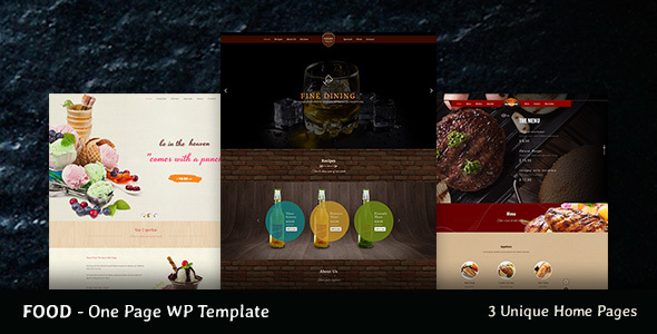 Food - Onepage Food Business Theme - Food Retail