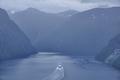 Norwegian fjord landscape. Cruise travel. Travel Norway tourism
