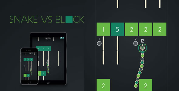 Snake VS Block - HTML5 Game - CodeCanyon Item for Sale