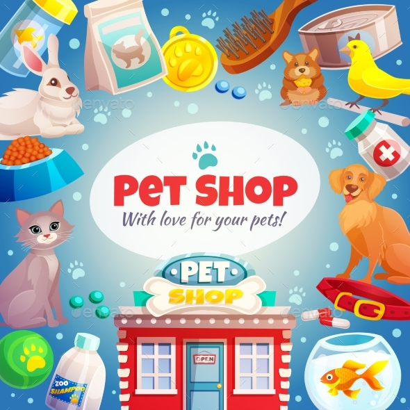 GraphicRiver Pet Shop Frame Background 20231944