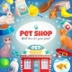Pet Shop Frame Background