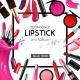 Lip Makeup Cosmetics Realistic Frame
