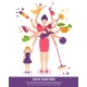 Busy Mother Concept Illustration