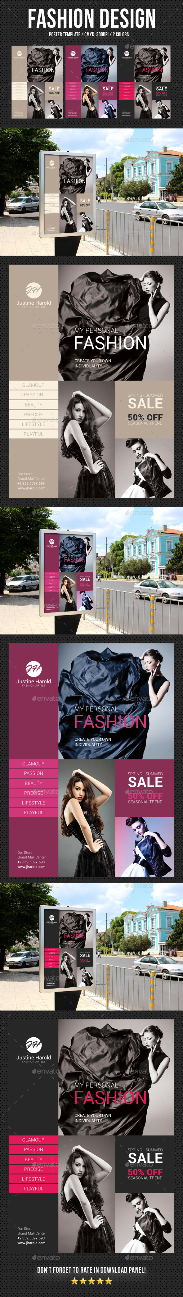 Fashion Poster 06 - Signage Print Templates