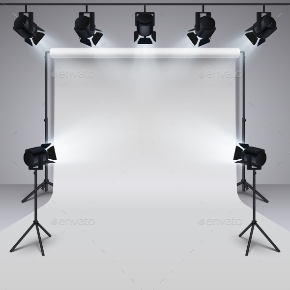 Lighting Equipment and Professional Photography - Objects Vectors
