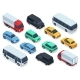 Isometric Vehicles and Cars for 3d City Traffic