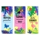 Tropical Paradise Vertical Banners Collection