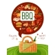 BBQ Picnic Flat Invitation Poster - GraphicRiver Item for Sale