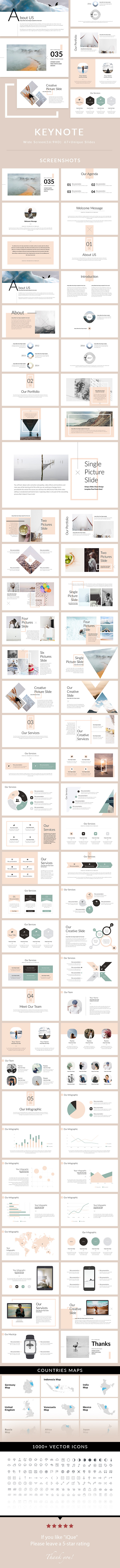 iQue - Keynote Presentation Template - Creative Keynote Templates